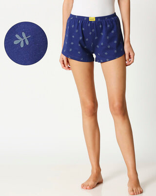 Shop Minimal Leaf All Over Printed Boxers-Front