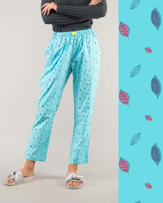 Shop Minimal Leaves All Over Printed Pyjama-Front