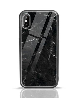 Shop Minimal Marble iPhone XS Glass Mobile Cover-Front