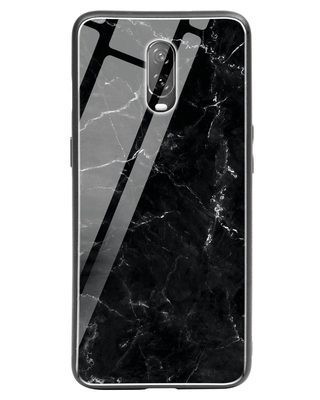 Shop Minimal Marble OnePlus 6T Glass Mobile Cover-Front
