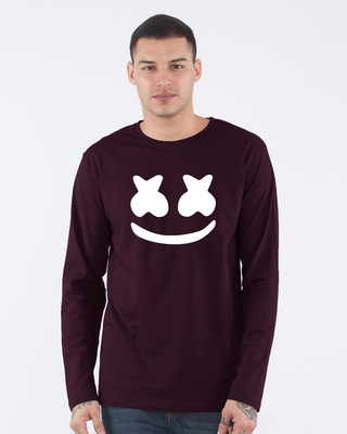 Shop Minimal Marshmello Full Sleeve T-Shirt-Front