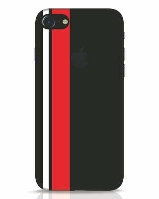 Shop Minimal Stripes iPhone 7 Logo Cut Mobile Cover-Front