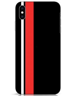 Shop Minimal Stripes iPhone XS Max Mobile Cover-Front