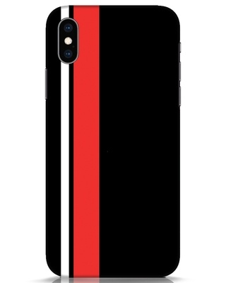 Shop Minimal Stripes iPhone XS Mobile Cover-Front