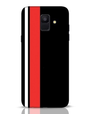 Shop Minimal Stripes Samsung Galaxy A6 2018 Mobile Cover-Front