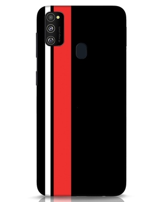 Shop Minimal Stripes Samsung Galaxy M30s Mobile Cover-Front
