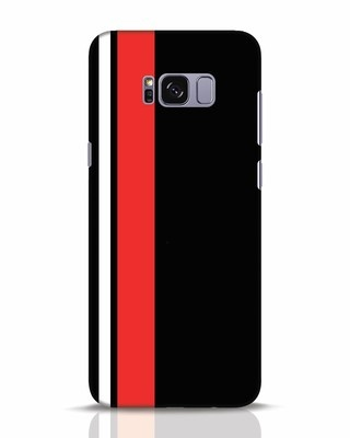 Shop Minimal Stripes Samsung Galaxy S8 Plus Mobile Cover-Front
