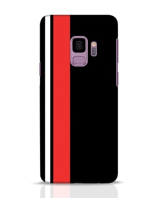Shop Minimal Stripes Samsung Galaxy S9 Mobile Cover-Front