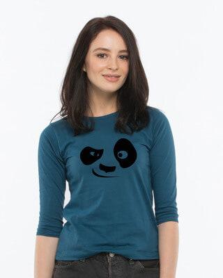 Shop Minimalist Round Neck 3/4th Sleeve T-Shirt-Front
