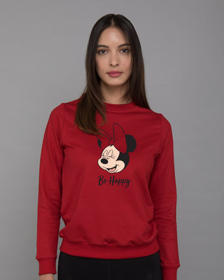 Shop Minnie Be Happy Fleece Sweater (DL)-Front