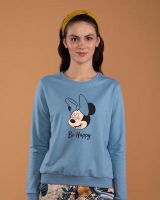 Shop Minnie Be Happy Sweatshirt (DL)-Front