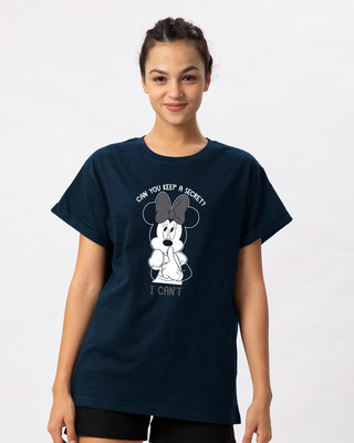 Shop Minnie Can't Boyfriend T-Shirt (DL)-Front