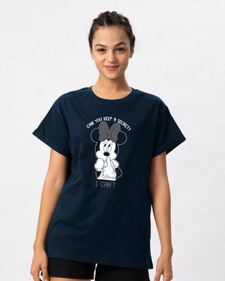 Shop Minnie Can't Boyfriend T-Shirt (DL)-Front