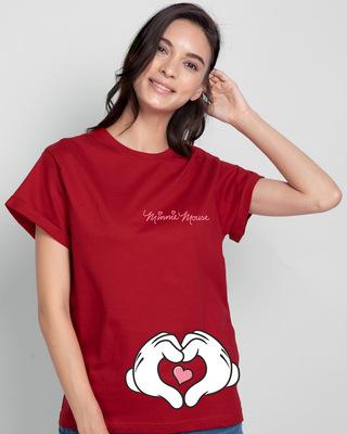 Shop Minnie Love Hyper Print Boyfriend T-shirt (DL)-Front