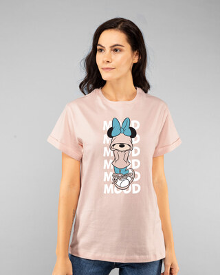 Shop Minnie Mood Boyfriend T-Shirt (DL)-Front