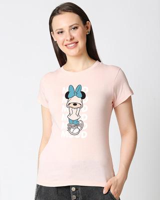 Shop Minnie Mood Half Sleeves T-Shirt (DL)-Front