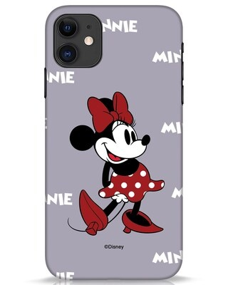 Shop Minnie Mouse iPhone 11 Mobile Cover (DL)-Front
