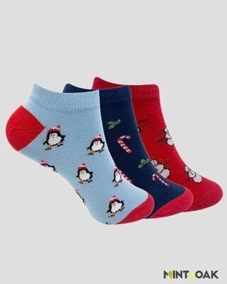 Shop Mint & Oak Christmas Combo Socks for Women-Front