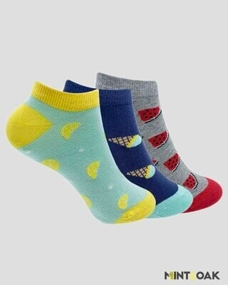 Shop Mint & Oak Food Combo Socks for Women -Front