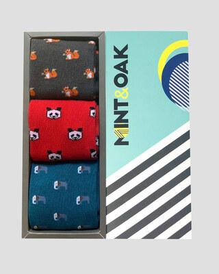 Shop Mint & Oak Gift Box Of 3 - Panda-Front