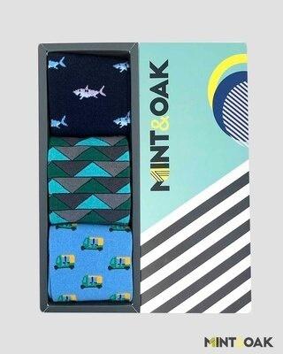 Shop Mint & Oak Gift box of 3 Socks - BESTSELLERS-Front