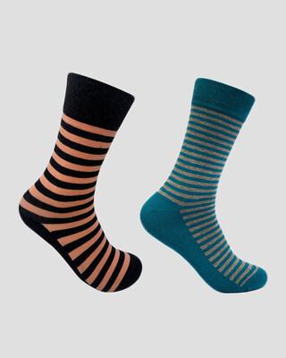 Shop Mint & Oak Set Of 2 - Stripes-Front