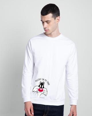 Shop Mischief On My Mind Fleece Sweater (LTL) White-Front
