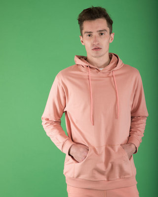 Shop Misty Pink Fleece Hoodies-Front