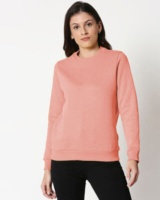 Shop Misty Pink Fleece Sweater-Front