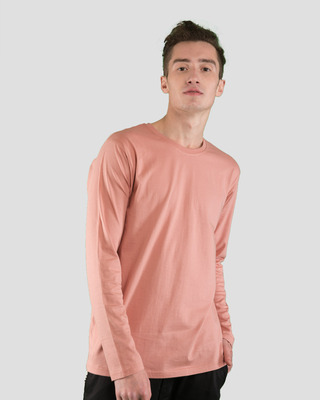 Shop Misty Pink Full Sleeve T-Shirt-Front