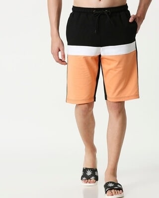 Shop Orange Rush Three Panel Shorts-Front