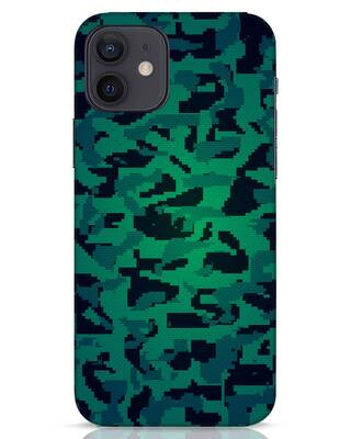 Shop Modern Camo iPhone 12 Mobile Cover-Front