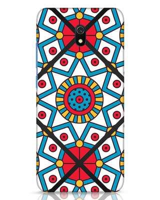 Shop Modern Floral Art Xiaomi Redmi 8A Dual Mobile Cover-Front