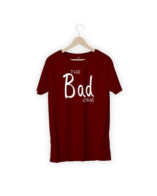 Shop MOJOTRACK The Bad One Men Half Sleeve T-Shirt-Front