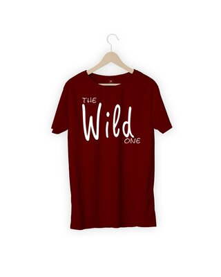 Shop MOJOTRACK The Wild One Men Half Sleeve T-Shirt-Front
