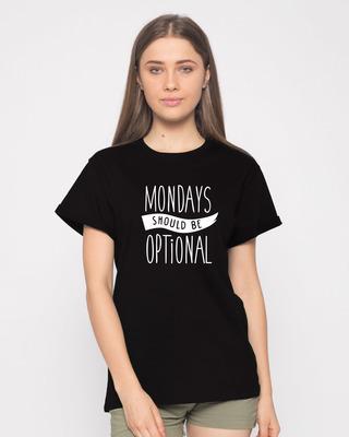 Buy Monday Blues Boyfriend T-Shirt Online India @ Bewakoof.com
