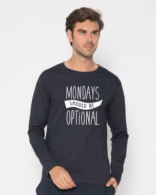 Shop Monday Blues Full Sleeve T-Shirt-Front
