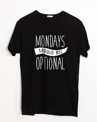 Buy Monday Blues Half Sleeve T-Shirt Online India @ Bewakoof.com