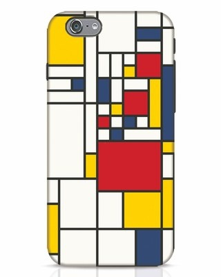 Shop Mondrian iPhone 6 Mobile Cover-Front