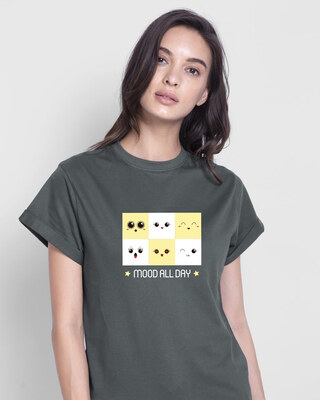 Shop Mood All Day Boyfriend T-Shirt-Front