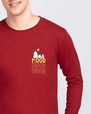 Shop Mood ZZZ Full Sleeve T-Shirt (PNTL) Bold Red-Front