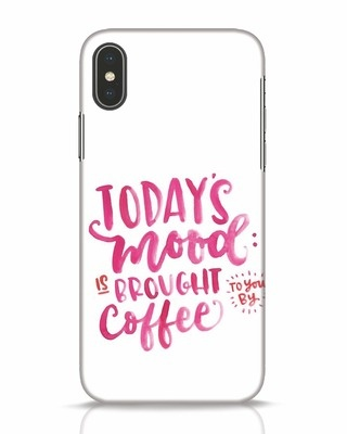 Shop Moodbycoffee iPhone X Mobile Cover-Front
