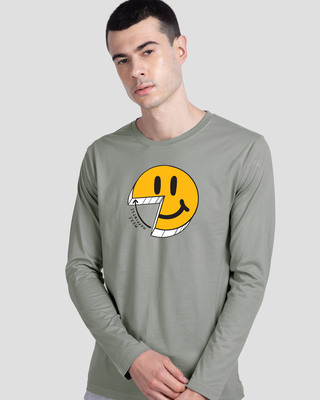 Shop More Happiness Full Sleeve T-Shirt-Front