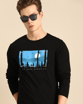Shop More Memories Full Sleeve T-Shirt Black-Front