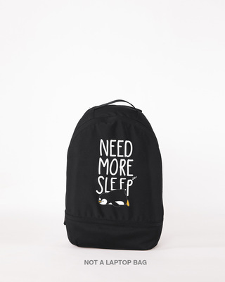 Shop More Sleep Small Backpack-Front