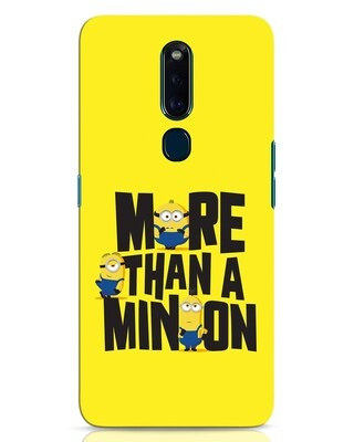 Shop More Than A Minion Oppo F11 Pro Mobile Cover-Front