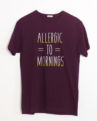 Shop Morning Allergies Half Sleeve T-Shirt-Front