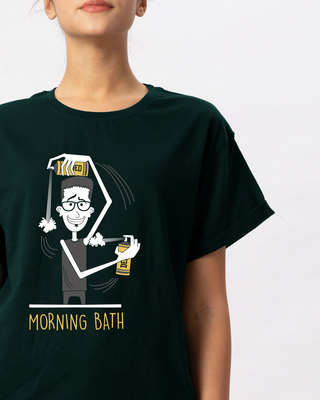 Shop Morning Bath Boyfriend T-Shirt-Front