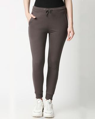 Shop Moss Green Casual Jogger Pants-Front