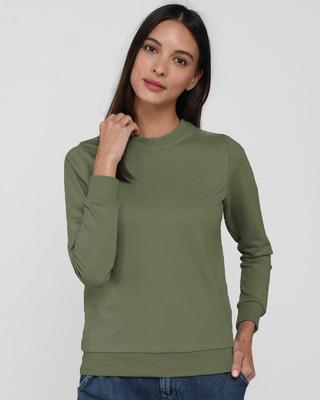 Shop Alpha Green Fleece Sweater-Front